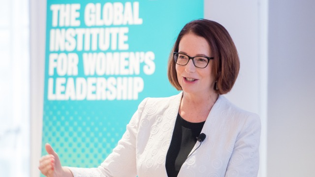 The Hon. Julia Gillard AC talking